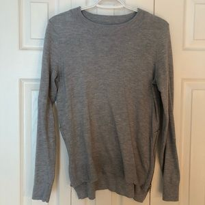 Grey sweater with side zippers